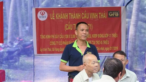 Anh Tần Nguyễn Bày Tỏ Cảm Xúc Khi Dự Lễ Khánh Thành