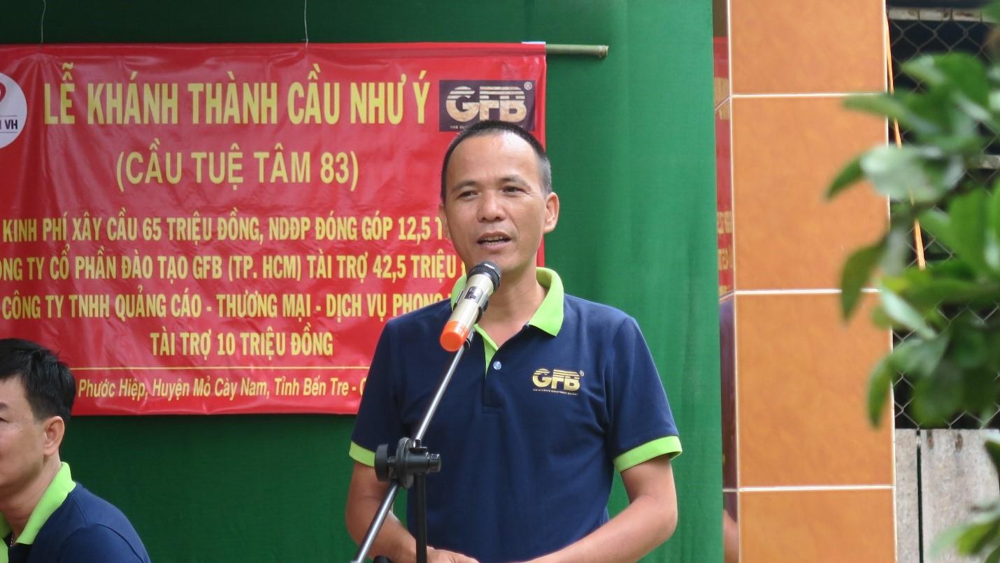 Anh Tần Nguyễn Phát Biểu Tại Buổi Lễ Khánh Thành
